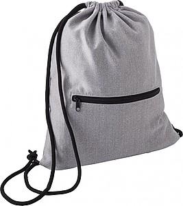 Fleecový stahovací batoh s kapsou