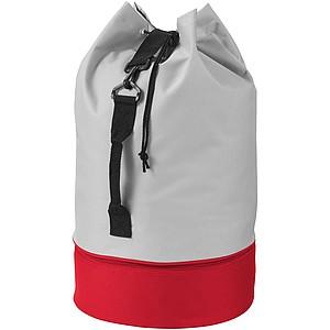 Batoh přes rameno s červeným dnem, šedá/červená