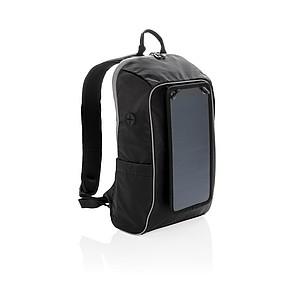 Outdoorový batoh se solárním panelem, černá