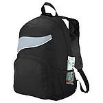 Černý batoh s barevným doplňkem, šedá