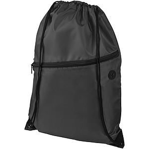 Stahovací batoh s černým zipem zipem, černá