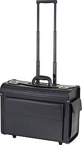 Kufr na dokumenty s trolley funkcí, černá