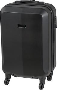 Skořepinový kufr na 4 kolečkách s integrovaným zámkem, černý