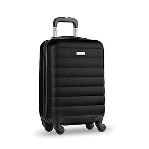 Skořepinový kufr na kolečkách, černý