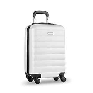 Skořepinový kufr na kolečkách, bílý