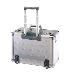 kovový pilotní kufr na kolečkách