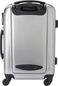 BAMBARO Matně stříbrný cestovní kufr se čtyřmi kolečky