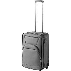 Cestovní kufr na kolečkách s možností zvětšení velikosti, šedá