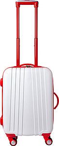 Cestovní kufr se čtyřmi kolečky, integrovaný zámek, červený