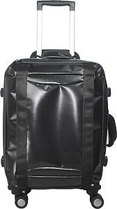 NUELE Lehký plastový kufr na čtyřech kolečkách, černý