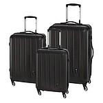 Sada tří kufrů na 4 kolečkách, černá barva