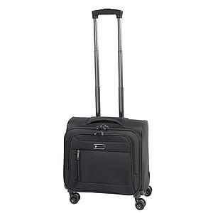 Menší cestovní kufr s 3 kapsami, černá