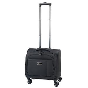 PARNAS Menší cestovní kufr s 2 kapsami, černá