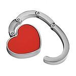 Držák na tašku ve tvaru srdce, červená