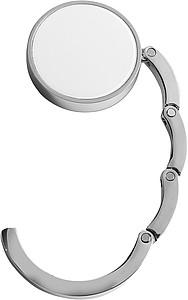 ZEWEDO Skládací kovový háček na kabelku, bílý