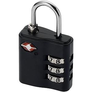 Klasický zámek na zavazadla, černá