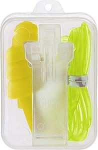 Silikonové špunty do uší dodávané v plastovém balení