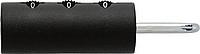 Plastový cylindrický zámek na kufr s číslicemi, černý