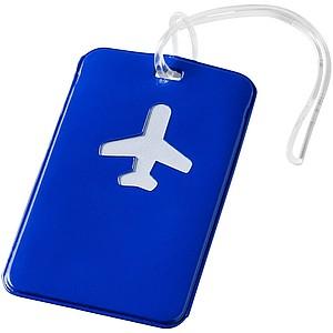 Jmenovka na zavazadlo, modrá