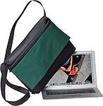 Taška na laptop, s klopou, černo zelená