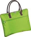 Taška vhodná na laptop s hnědými uchy, zelená