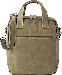 Taška na notebook přes rameno s velkou polstrovanou kapsou