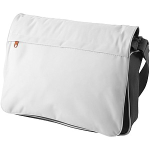 Taška na laptop s přední kapsou, bílá/šedá