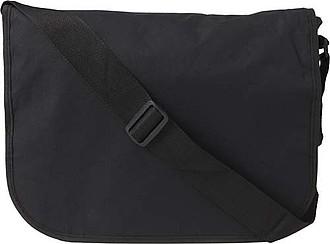Černá taška přes rameno, vhodná na tablet
