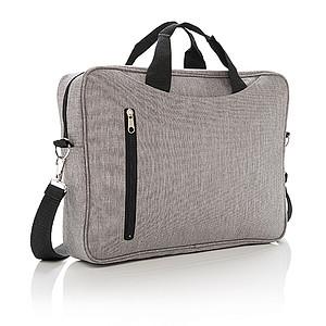 """Taška přes rameno na 15"""" notebook, světle šedá"""