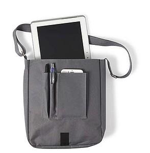Taška přes rameno, vhodná na tablet, šedá