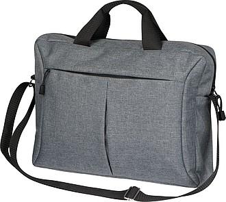 Šedá taška na notebook s černými uchy