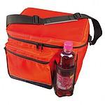 Chladící taška s extra kapsou na láhev, červená