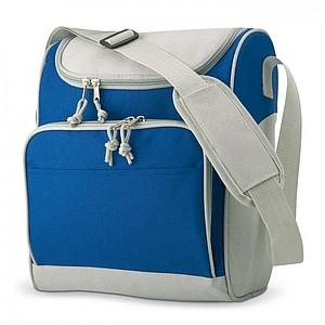 ZIPPER Chladící taška s přední kapsou, 600D polyester, modrá