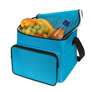 Chladící taška s popruhem na rameno, modrá