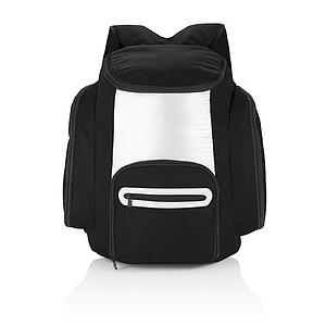 Chladící batoh s přední kapsou na zip, černá
