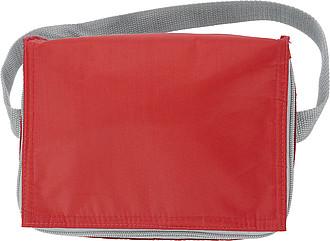 VENDULA Chladící taška na 6 plechovek s popruhem na rameno, červená