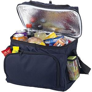 Chladící taška s přední kapsou na zip, tmavě modrá