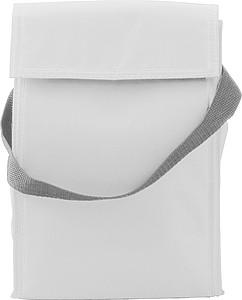 Chladící taška se zapínáním na suchý zip, bílá