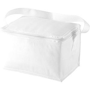 Chladící taška na 6 plechovek, bílá