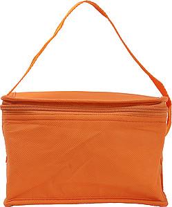 Chladící taška na 6 plechovek, netkaná textilie, oranžová