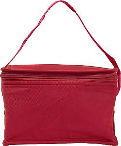 Chladící taška na 6 plechovek, netkaná textilie, červená