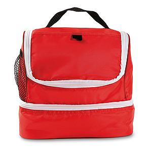 Chladící taška s dvěma oddíly, červená