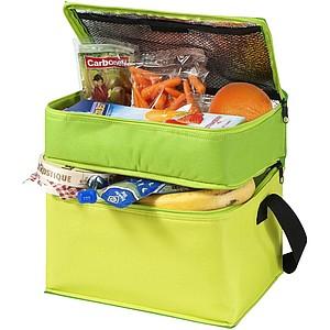 Chladící taška se dvěma oddíly, zelená
