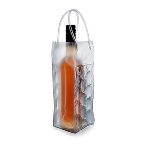 MIRABU Transparentní PVC chladící taška na jednu láhev