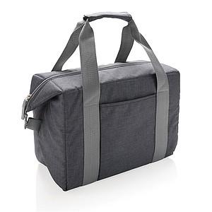 Nákupní chladící taška na 26 plechovek, tmavě šedá
