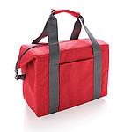 Nákupní chladící taška na 26 plechovek, červená