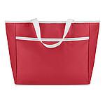 Chladící nákupní taška, přední kapsa, bílá držadla, červená
