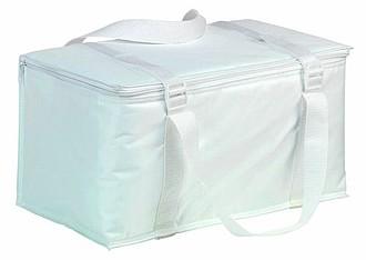 Chladící taška na 12 plechovek, bílá
