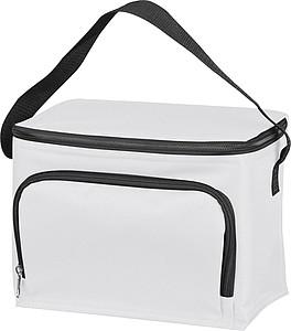 Malá chladící taška s kapsičkou, bílá