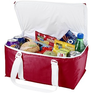 Chladící taška na 12 plechovek, červená